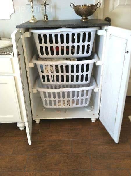Ev düzeni: Çamaşır sepetleri için organizasyon fikirleri.