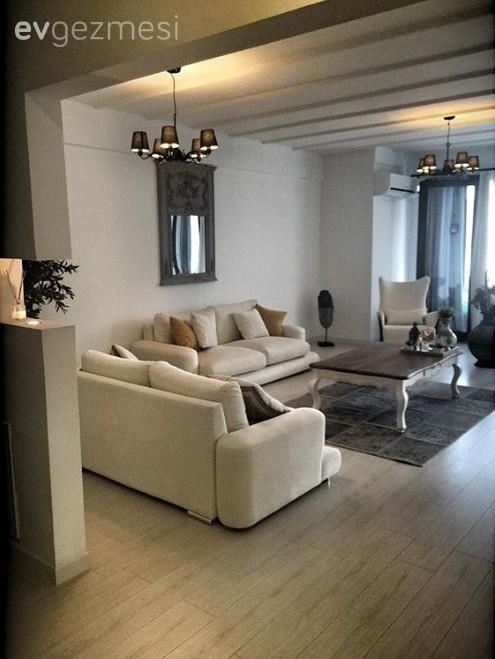 Doğal ton ve malzemelerle stil sahibi ve konforlu bir ev