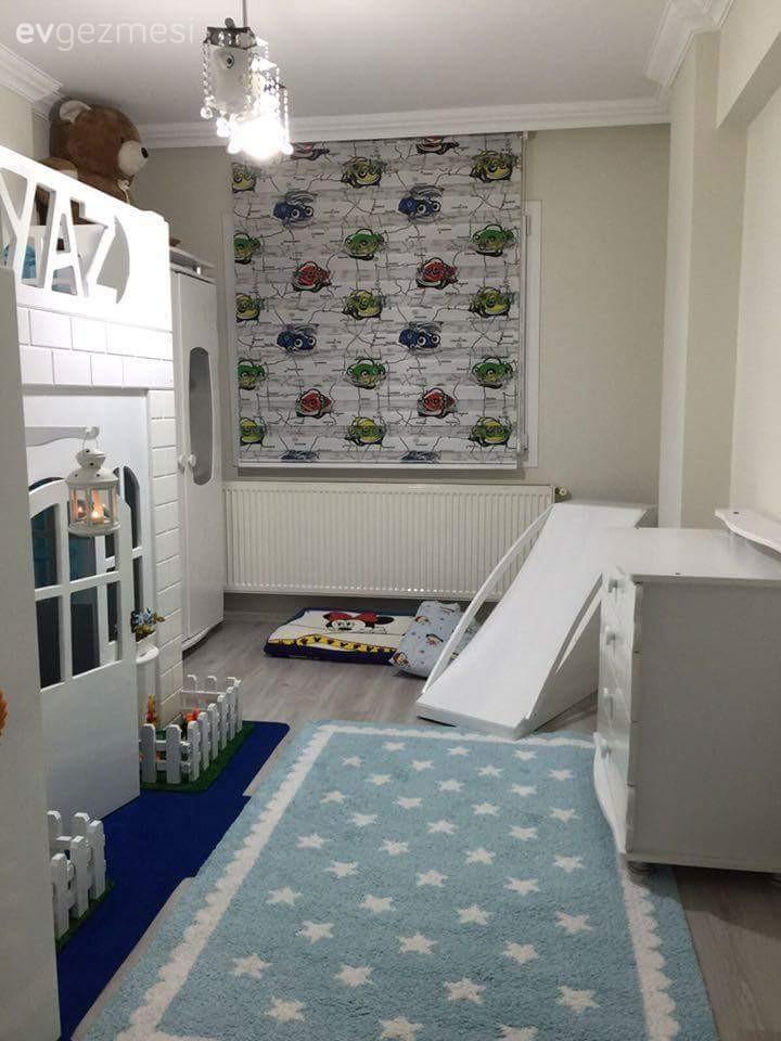 Ayaz'ın tamamı babası tarafından yapılmış odası..