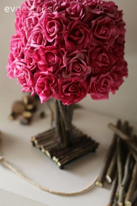 Burcu hanımın odağında çiçekler olan ev aksesuarı tasarımları..