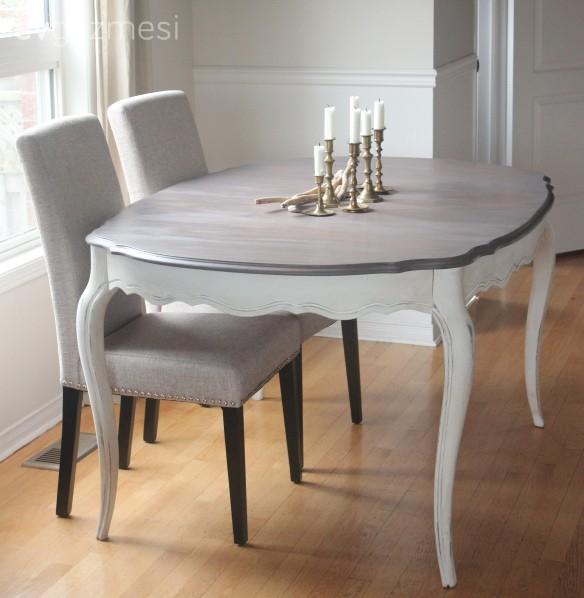 Eski bir masadan, provensal stil bir masa yapım projesi.