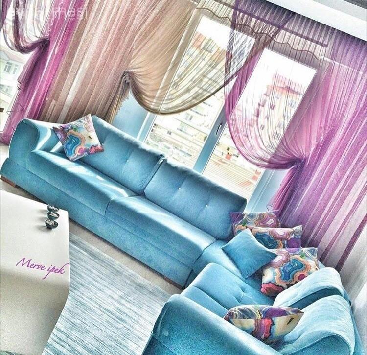Merve hanımın uyumlu renk ve stille, sıcacık evi!