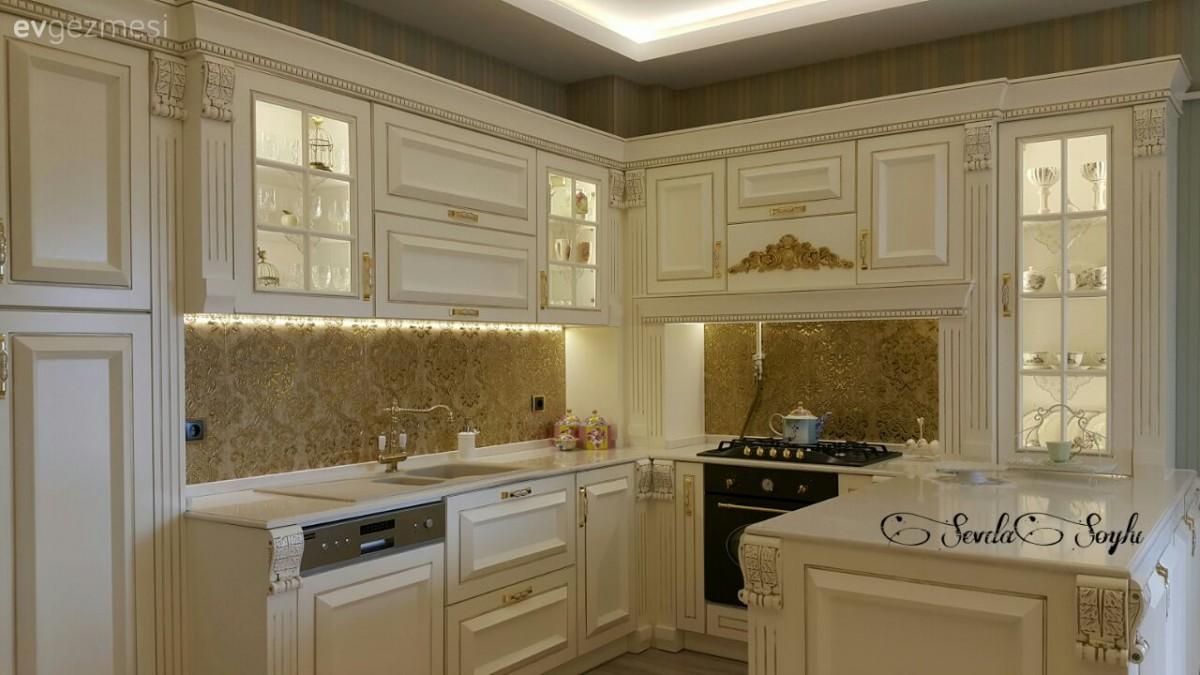 Altın, Beyaz mutfak, Mutfak, Tezgah arası seramik