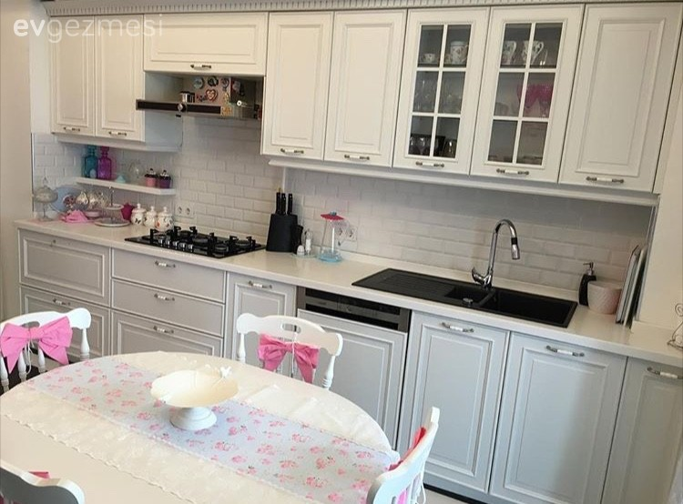 Beyaz mutfak, Country mutfak, Mutfak, Mutfak masası