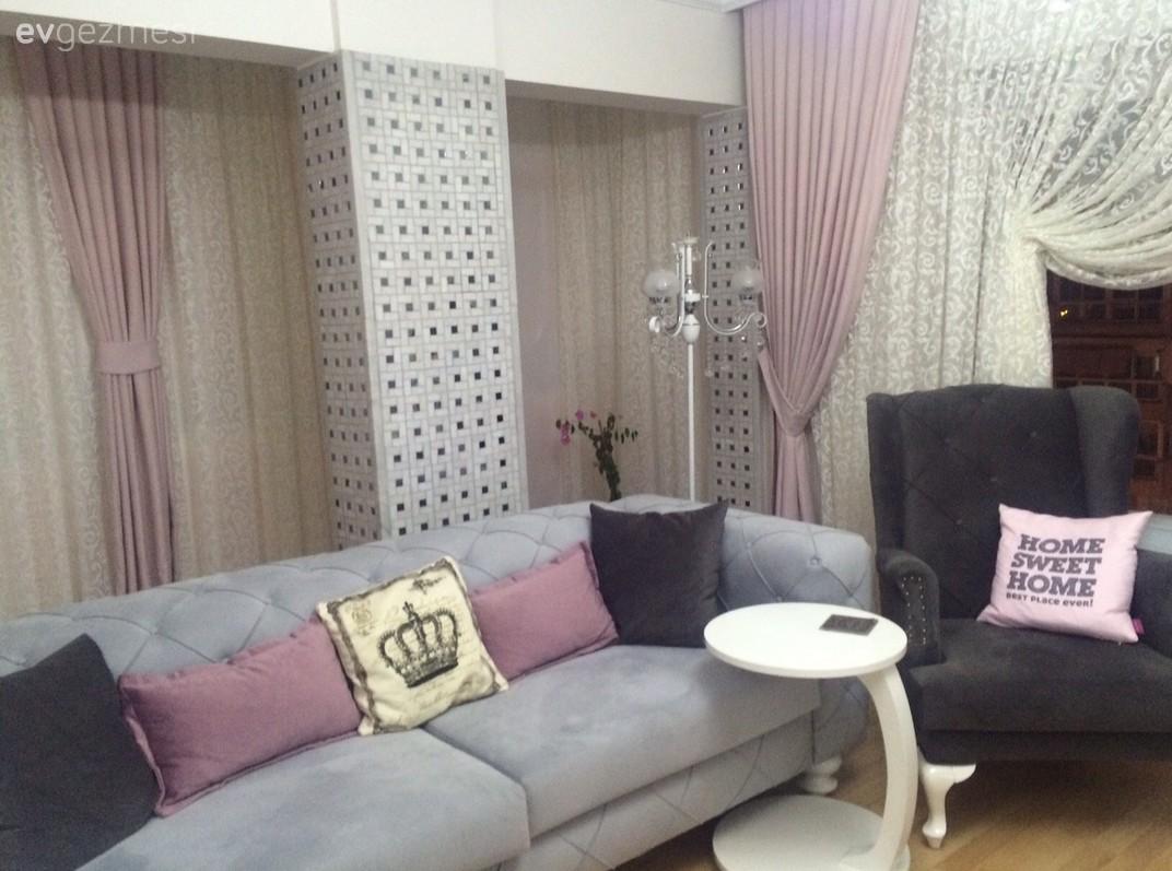 Modern mor renkli banyo dekorasyonu ev dekorasyonu dizayn - Hem Modern Hem Romantik Bir Dekor