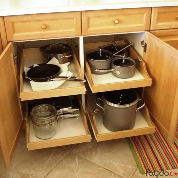 Kitchen Pantry Cabinet Organization Ideas Plate Rack Shelf: Tencere Dolabı Düzenleme