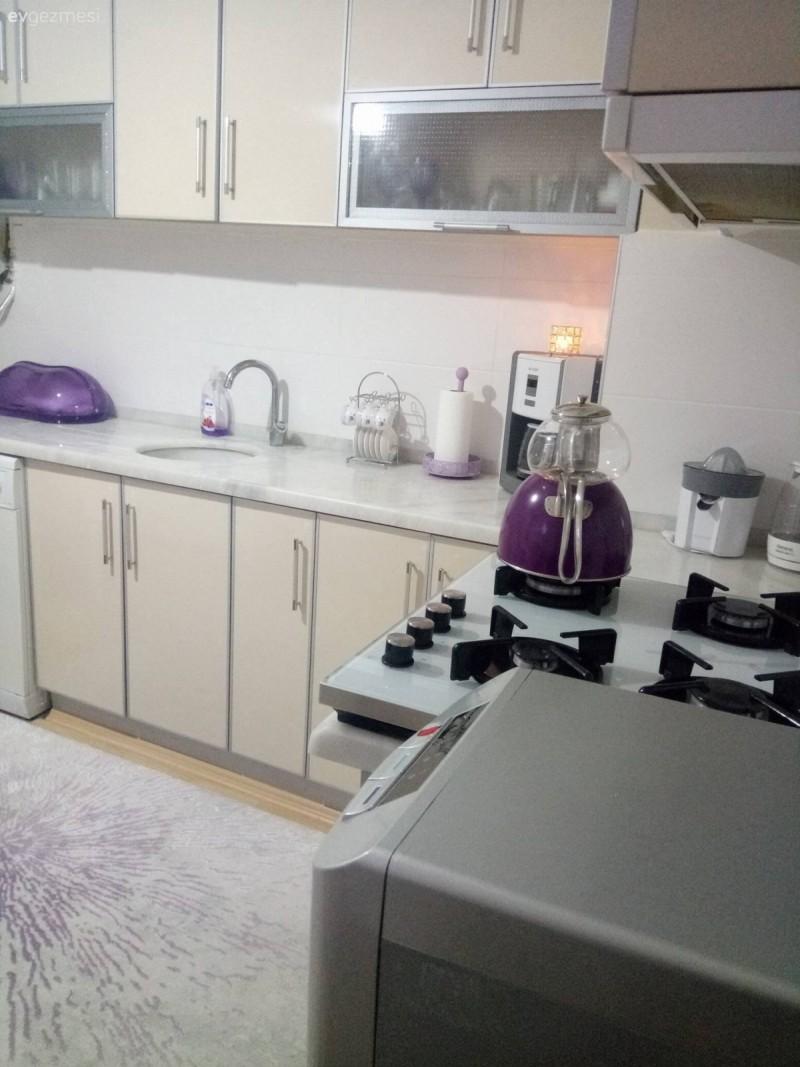 Modern tasar ml k rm z renkli mutfak dekorasyonu modeli - T M Mutfak Foto Raflar